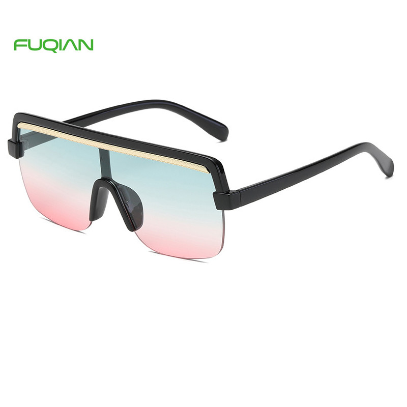 Fashion Photochromic Oversize One Piece Women Gafas De Sol Mujer Men SunglassesCustom Logo Retro Big Frame Photochromic One Piece Women Men Sunglasses