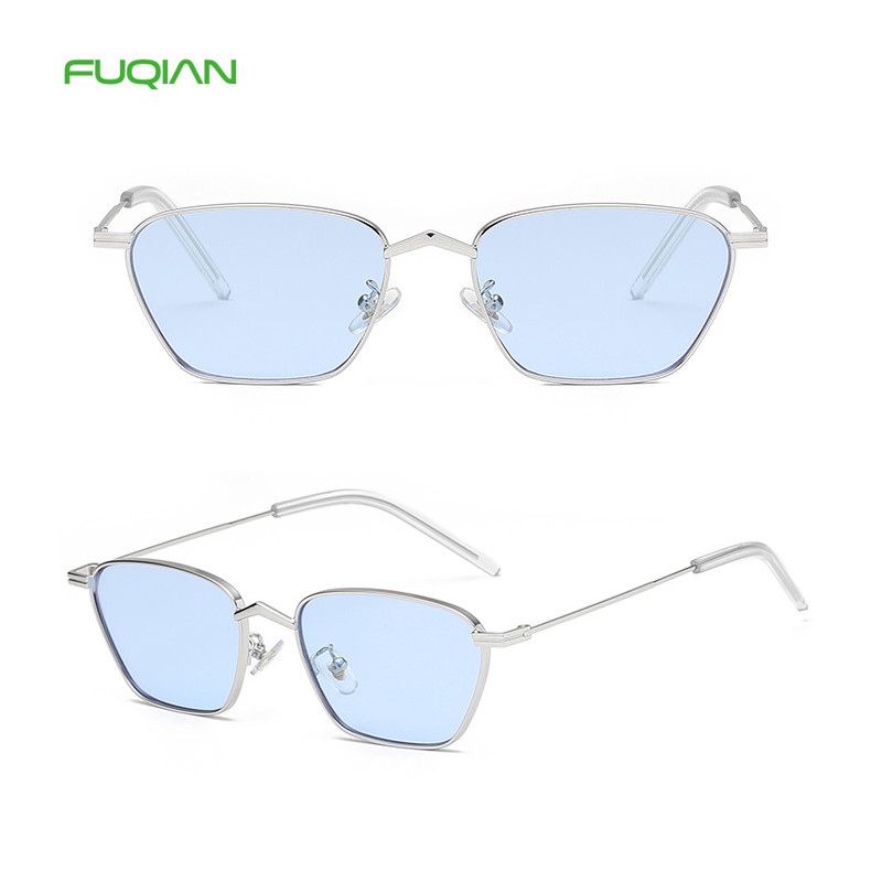 Diamond-shaped Marine Film Retro Square Women Men SunglassesDiamond-shaped Marine Film Retro Square Women Men Sunglasses