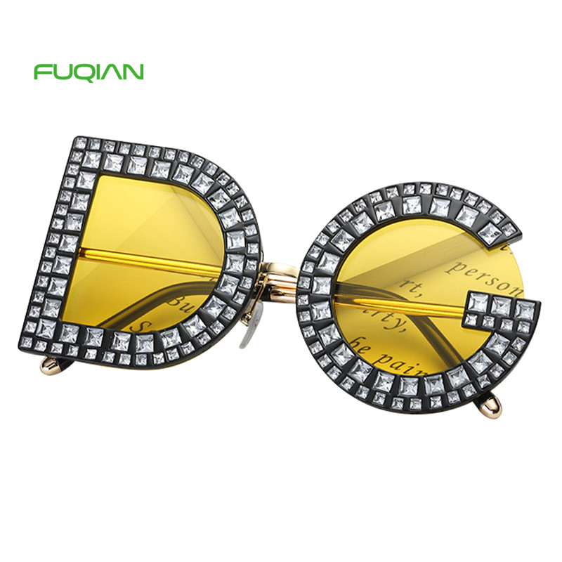 Individuality Designer Authentic Alphabet DG Diamond Women Men SunglassesIndividuality Designer Authentic Alphabet DG Diamond Women Men Sunglasses