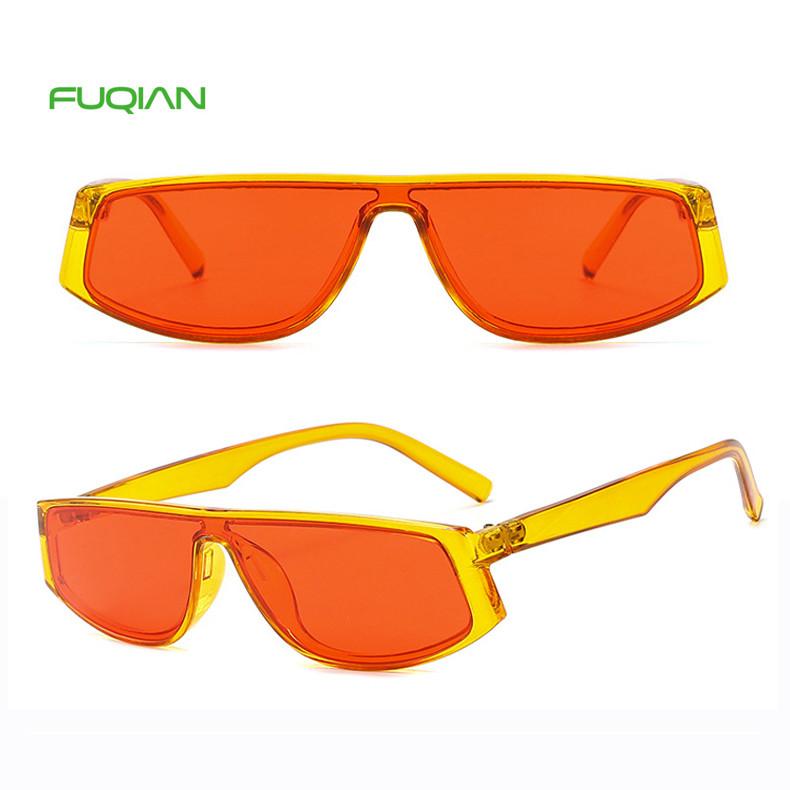 Custom Logo 2019 Candy Color Oculos De Sol Men Unisex Square SunglassesCustom Logo New Candy Color Siamese Square Men and Women Sunglasses
