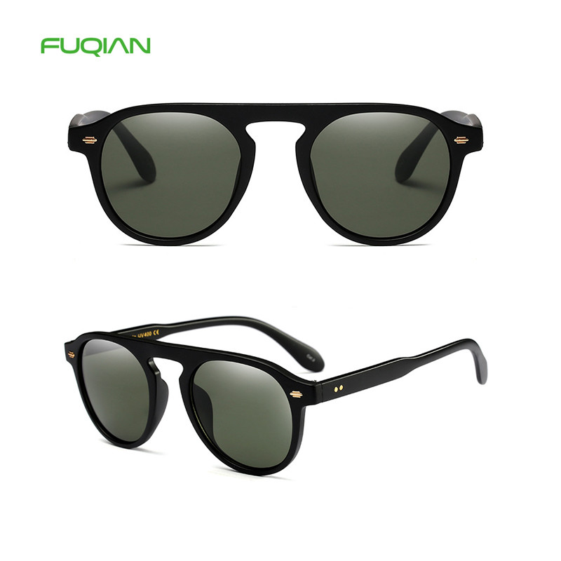 New Fashion Rice Nail Custom Logo Multi-Color Men Women Round SunglassesNew Fashion Rice Nail Custom Logo Night Vision Men Women Round Sunglasses