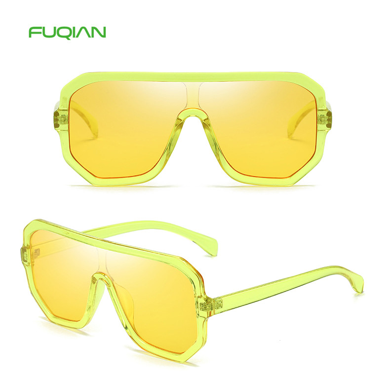 Wholesaler For OEM Candy Color Shades One Piece Women Men SunglassesWholesaler For OEM Candy Color Shades One Piece Women Men Sunglasses