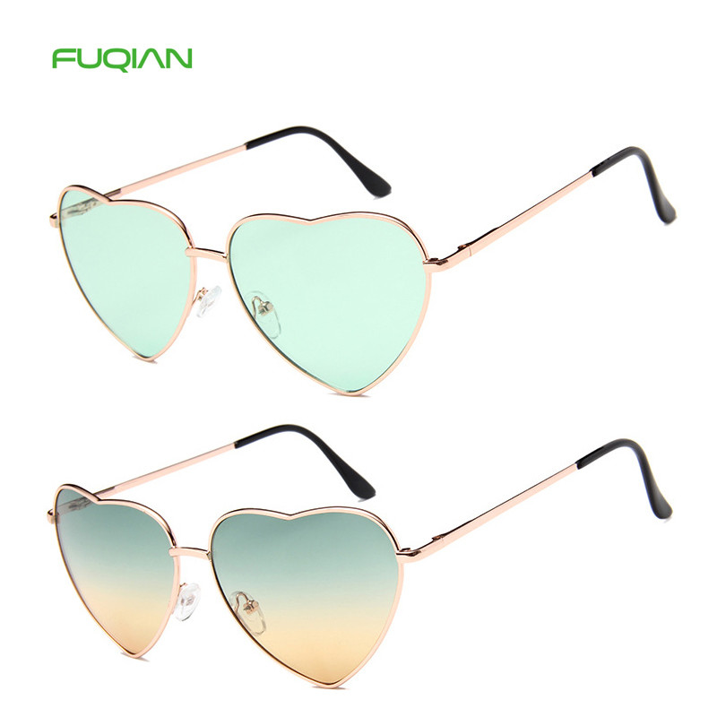 Customized Logo 20 Colors Clear Metal FrameMen Women Heart SunglassesCustomized Logo 20 Colors Clear Metal Frame  Men Women Heart Sunglasses