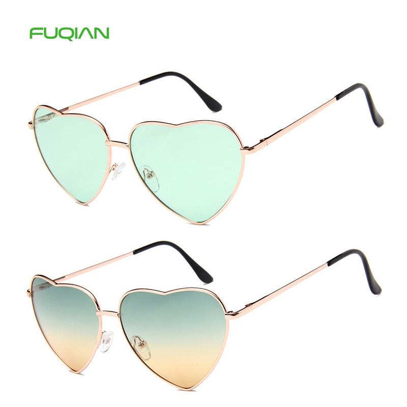 Customized Logo 20 Colors Clear Metal FrameMen Women Heart SunglassesCustomized Logo 20 Colors Clear Metal Frame Men Women Heart Sunglasses