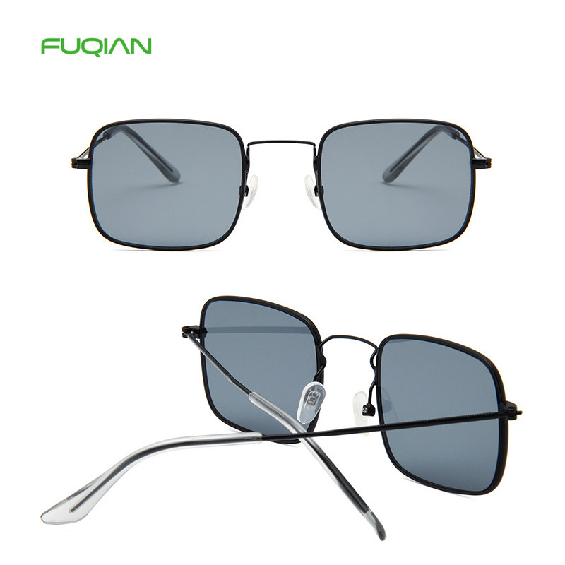 2019 TrendyMulti Color Metal Small Frame Gafas De Sol Women Men Square Sunglasses2019 Trendy  Multi Color Metal Small Frame Gafas De Sol Women Men Square Sunglasses