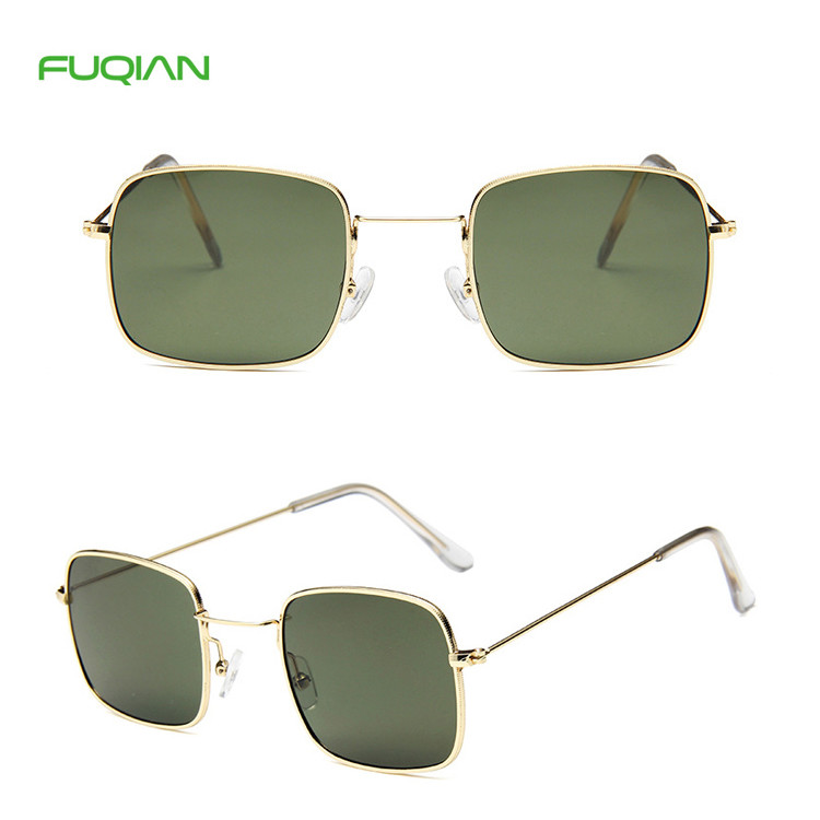 Promotional Colorful Custom Logo Metal Small Frame Rectangle Women Men SunglassesPromotional Colorful Custom Logo Metal Small Frame Rectangle Women Men Sunglasses