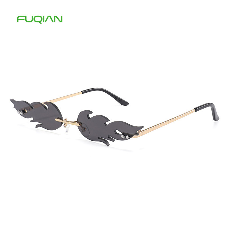 2019 Personality Small Frame Logo Printing Flame Men Women Sunglasses2019 Personality Small Frame Logo Printing Flame Men Women Sunglasses