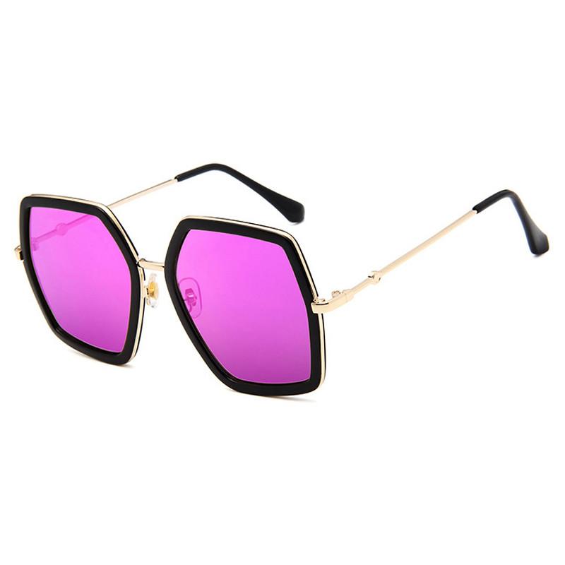 Stylish Polygonal Large Frame Custom Logo Men Women SunglassesStylish Polygonal Large Frame Custom Logo Men Women Sunglasses