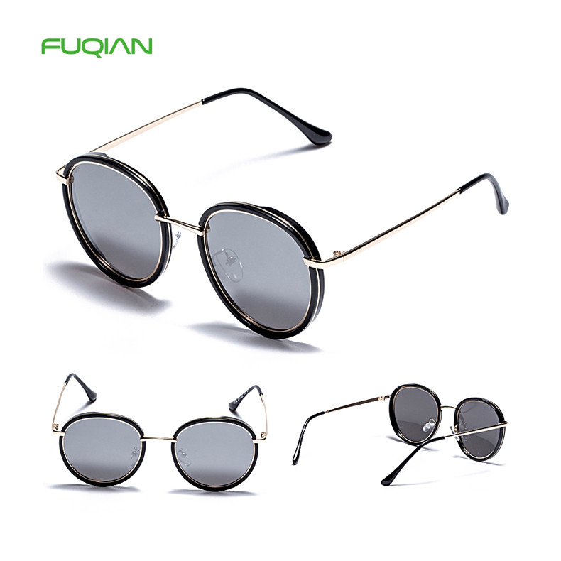 Fashionable Round TR90 Metal Frame TAC Polarized Women Mens Eyewear