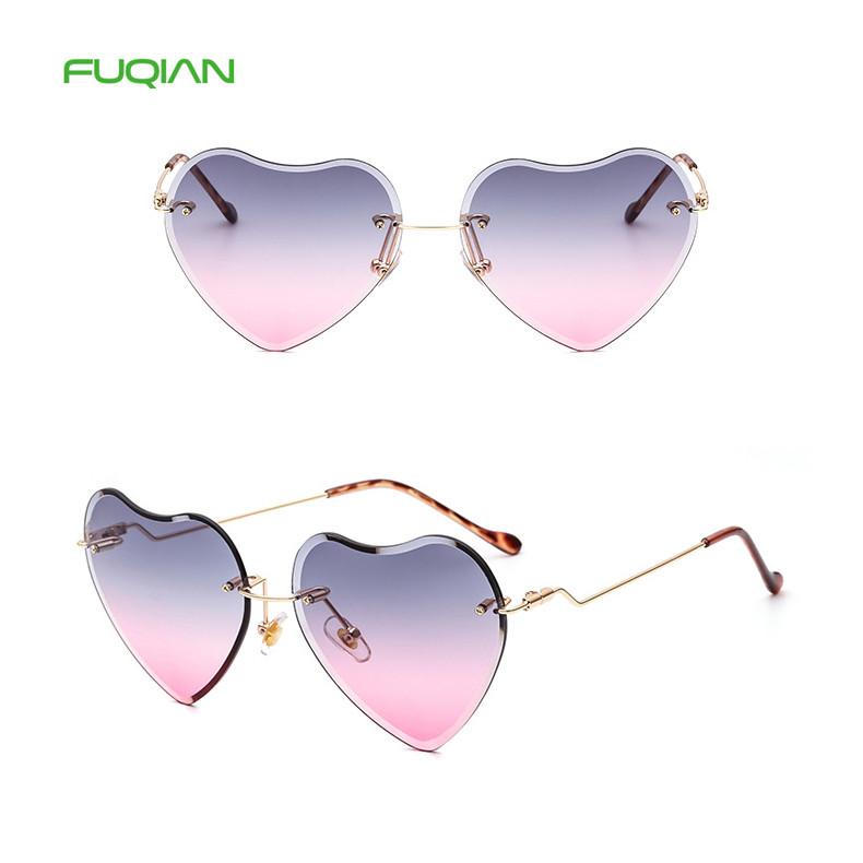 China Manufacturer Retro Rimless Shades Women Heart SunglassesChina Manufacturer Retro Rimless Shades Women Heart Sunglasses