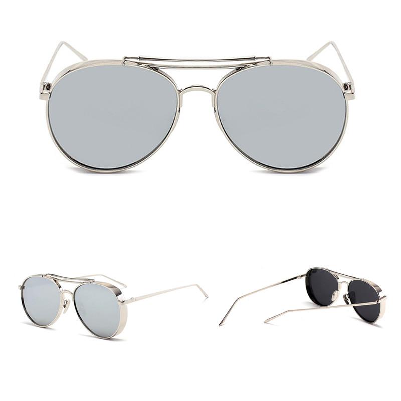 Fashionable Mirror Oversized Shade Custom Logo Men Women SunglassesFashionable Mirror Oversized Shade Custom Logo Men Women Sunglasses