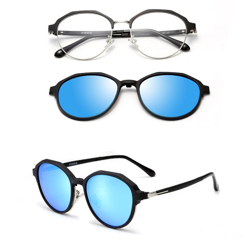 Wholesale Round Optics Lens Magnetic Clip On Polarized Men Women SunglassesWholesale Round Optics Lens Magnetic Clip On Polarized Men Women Sunglasses