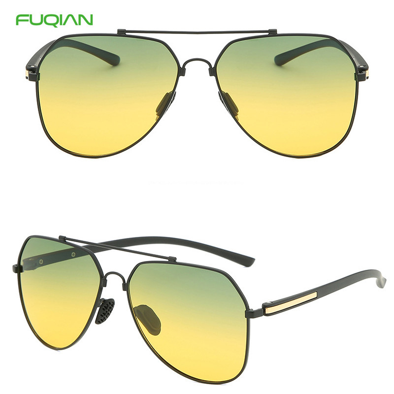 Popular Discolor Film Night Vision Polarized Glasses Men Women Pilot Memory Frame Driver SunglassesPopular Discolor Film Night Vision Polarized Men Women Pilot Sunglasses