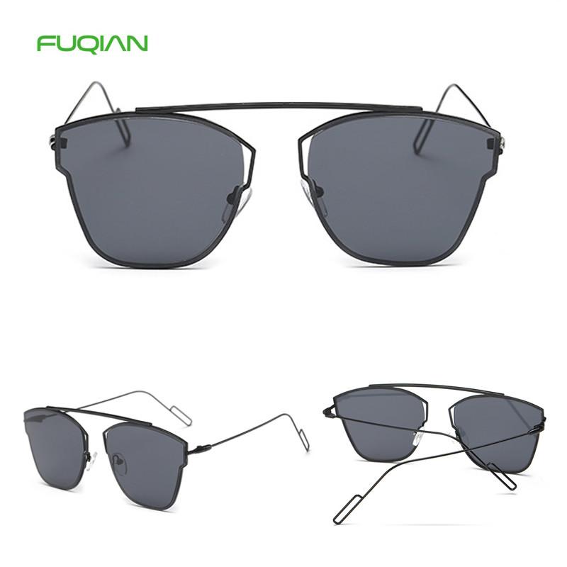 Hot Selling Unisex Sun Glass Vintage Mirror Oversized Men Women Sunglasses