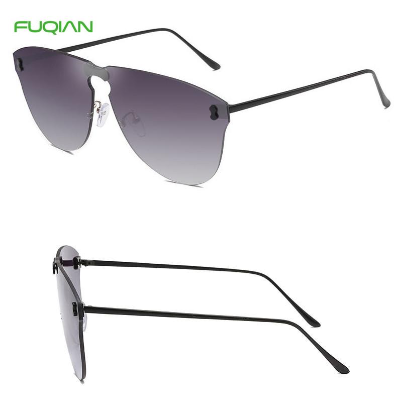 Comtomized Logo Fashion DuberyRimless Cat3 UV400 Women Men Sunglasses