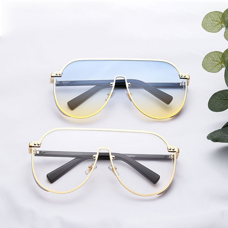 2020 New Arrival Women Oversized Sun Glass Oculos Men Bling Sunglasses