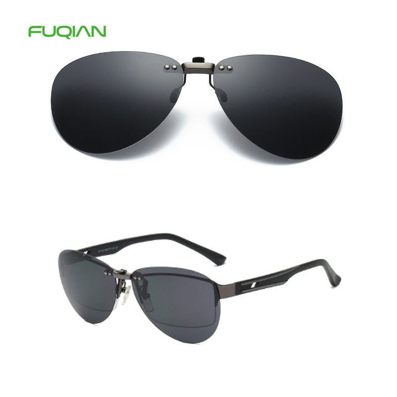 Color Film Replaceable Lens Rimless Frame Mirror Clip On Polarized Men Women SunglassesColor Film Replaceable Lens Rimless Frame Mirror Clip On Polarized Men Women Sunglasses