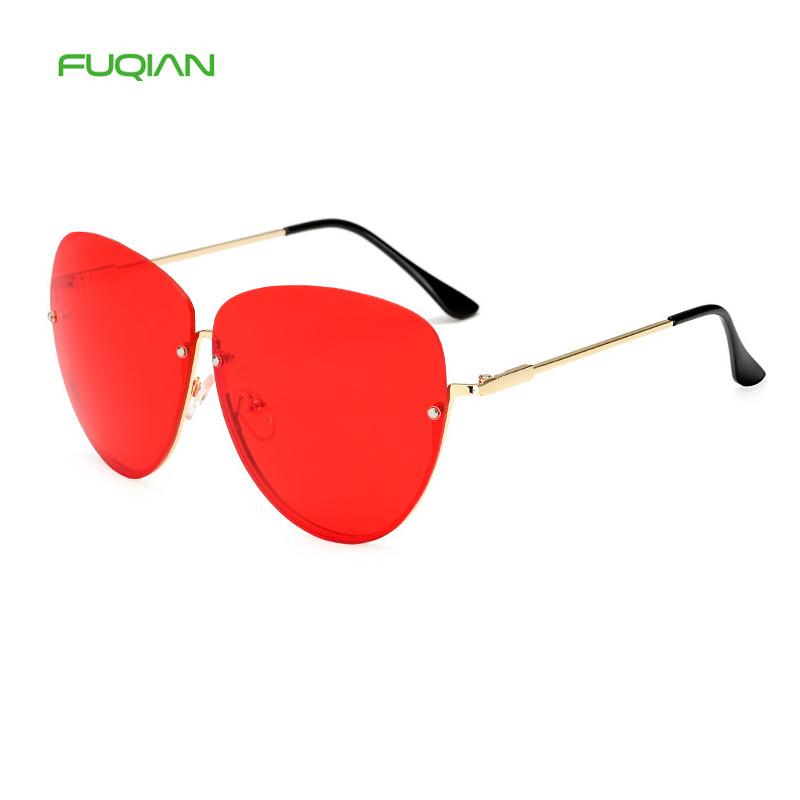 Best Selling 2019 Mirror Women Half Frame Oversize Power Unisex SunglassesBest Selling 2019 Mirror Women Half Frame Oversize Power Unisex Sunglasses