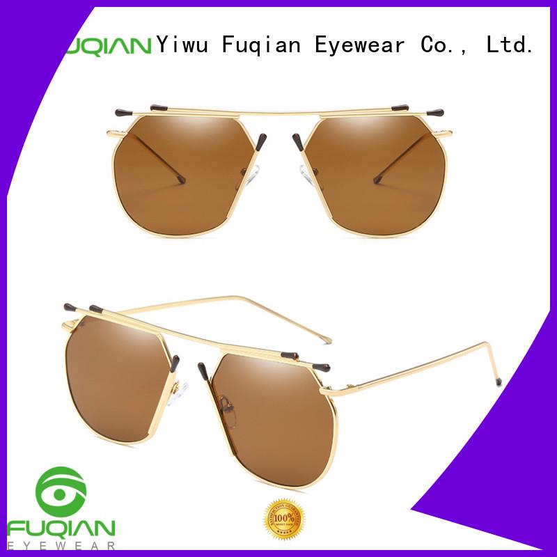Fuqian women's metal sunglasses for business for women