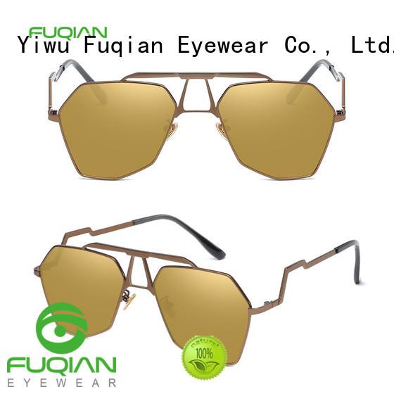 Fuqian stylish gold rim sunglasses for womens buy now for sport