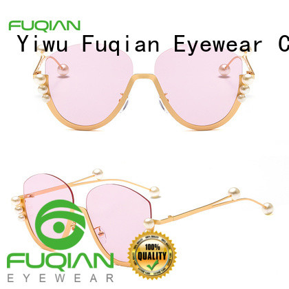 Fuqian blue polarized sunglasses customized for lady