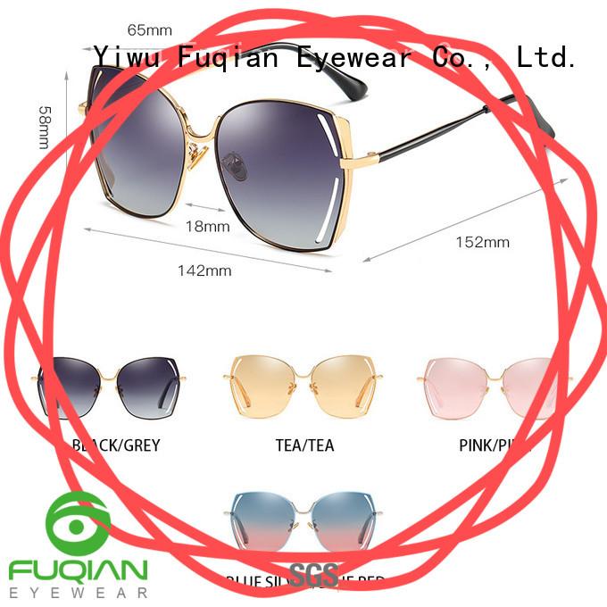 Fuqian Custom round sunglasses women manufacturers