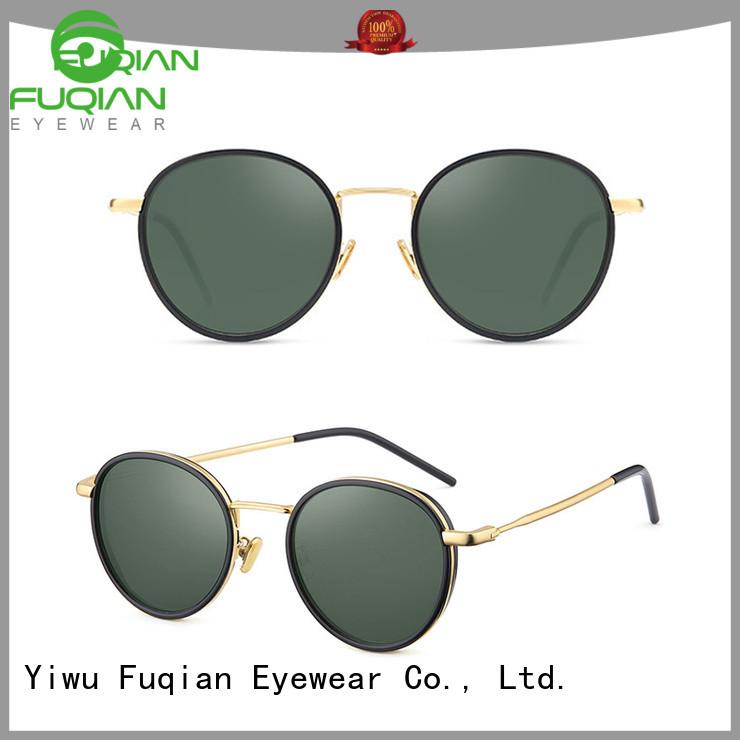 Fuqian girls round sunglasses women Supply for sport