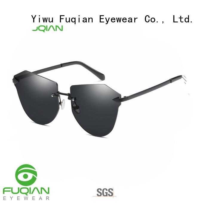 Fuqian women womens gold sunglasses company for sport