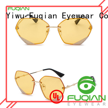 Fuqian Latest large frame womens sunglasses customized for racing