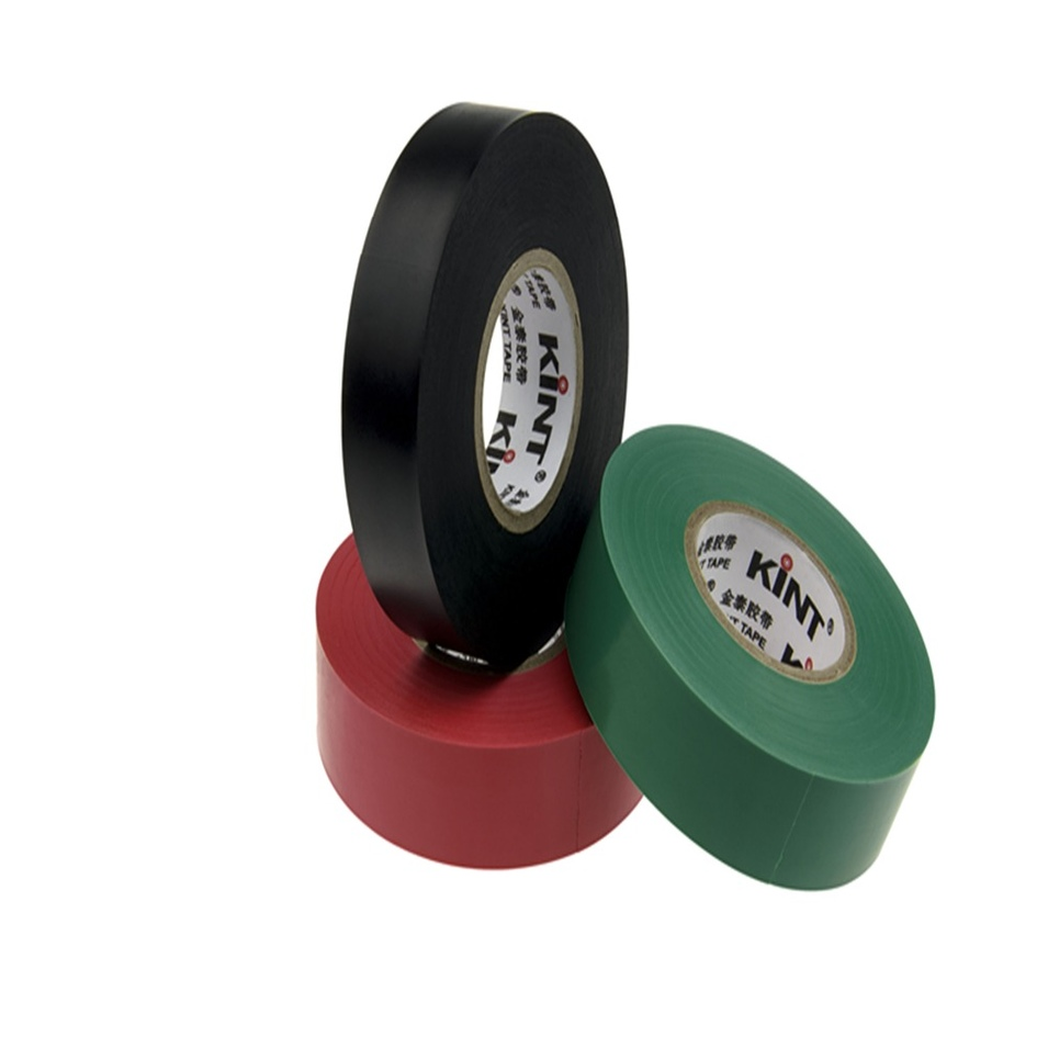 High quality green PVC electrical insulation tape log rolls