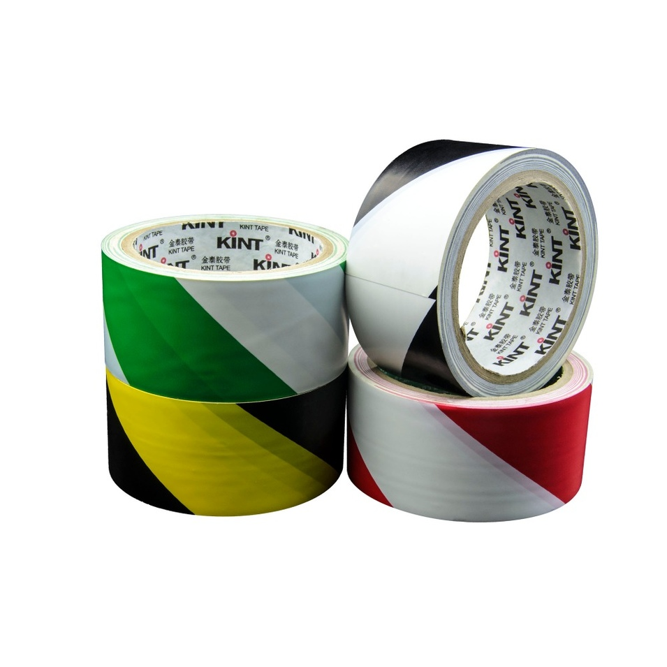High quality Yellow/Black PVC Floor Marking Warning Tape log roll