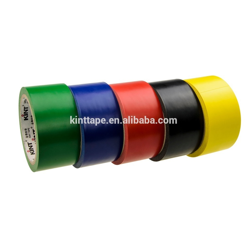 High quality Yellow PVC floor marking warning tape log roll