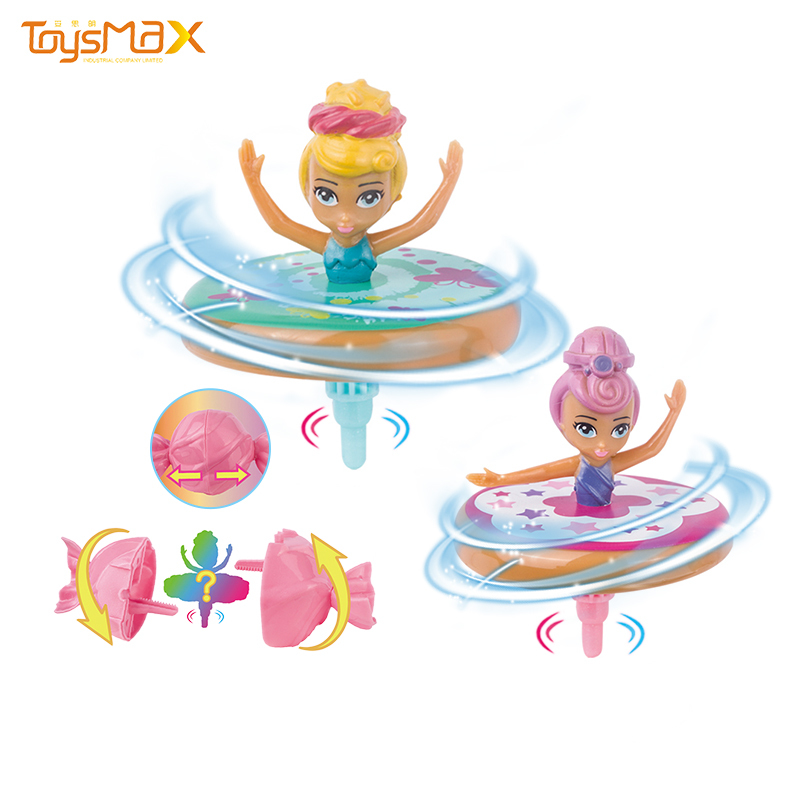2020 New Arrival Plastic Candy Spiral Rotating Dancing Surprise Blind Box Candy Dancing Doll