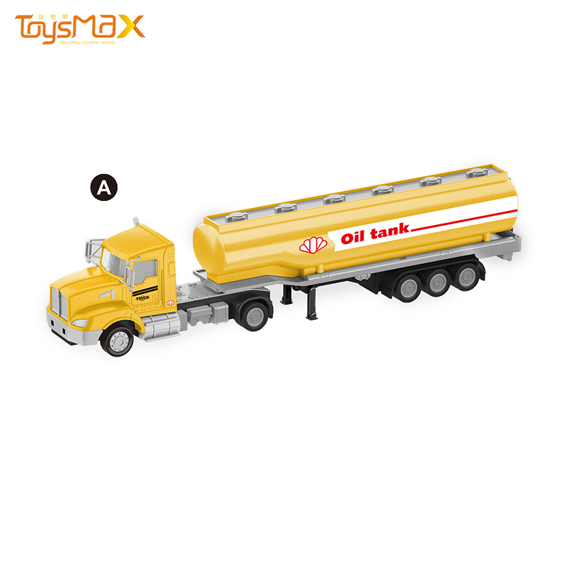 China New hot sale US Styles 1:43 Diecast Alloy Toys Truck Trailer Metal Oil Tank Trailer