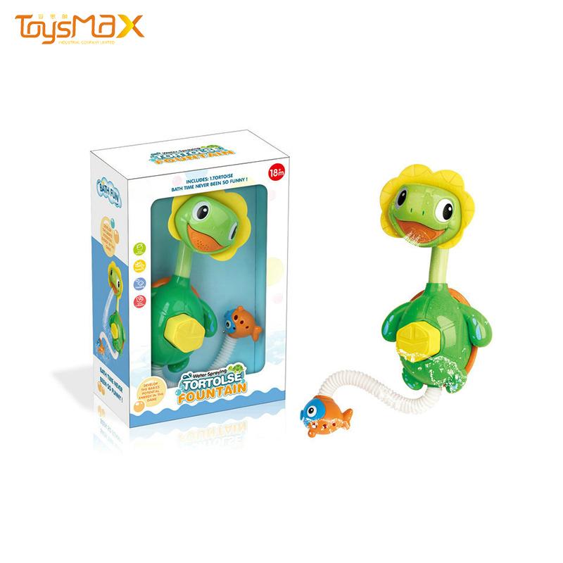 Amazon hot sale water spray toy tortoise fountain shower baby bath toys