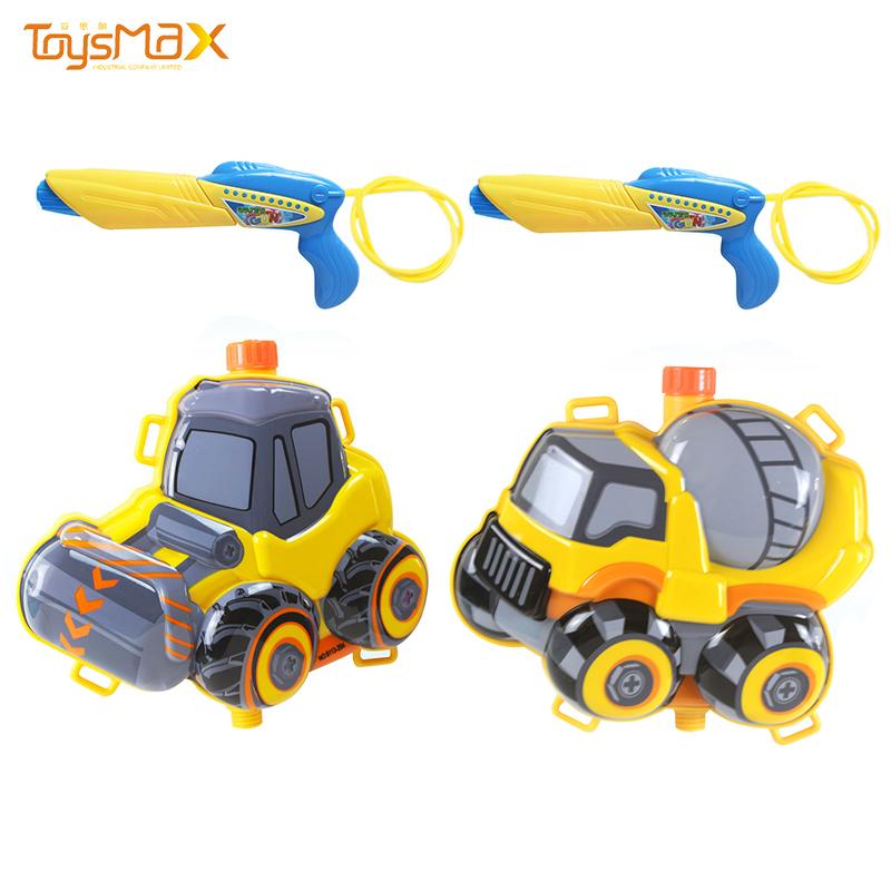 2021 cheap summer outdoor toys Engineering truck design plastic backpack pumping water gun