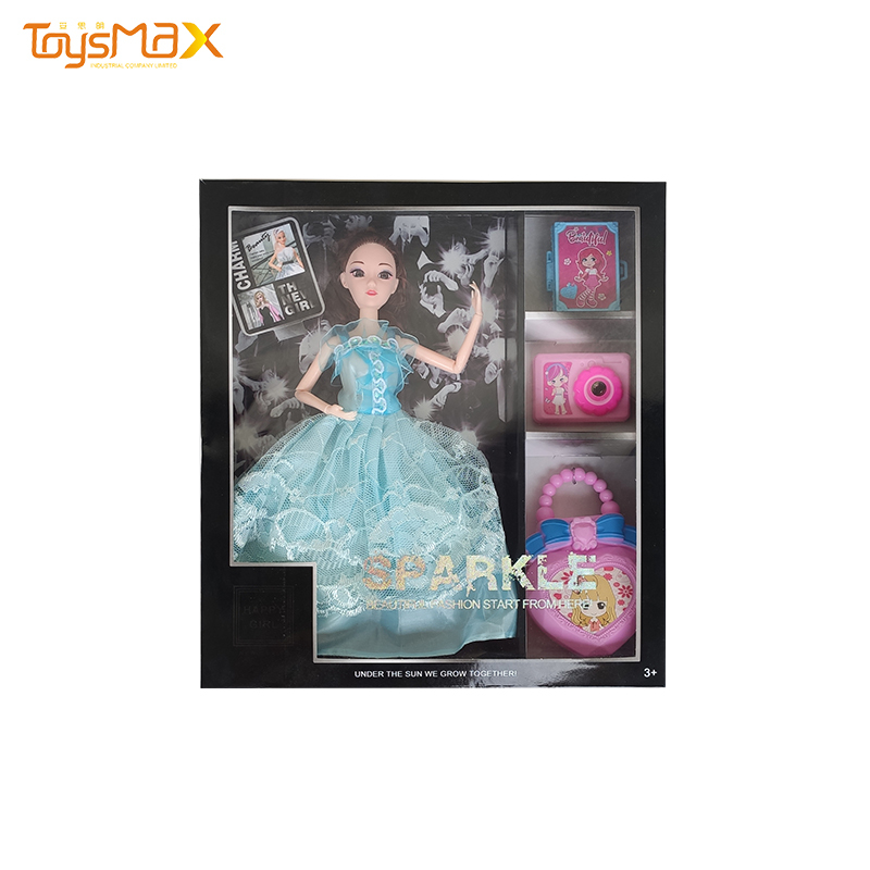Fashion 3D Eyes 9 Jointed Doll Dress UP 11.5inch Toys Doll For Girl