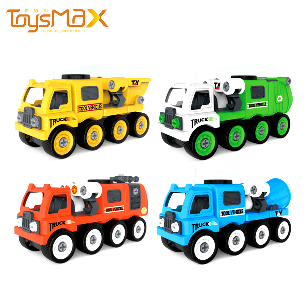 New Arrival Learning Gifts Play Set Take Apart Truck Toy 7 IN 1 DIY Engineering Transport Truck Vehicle