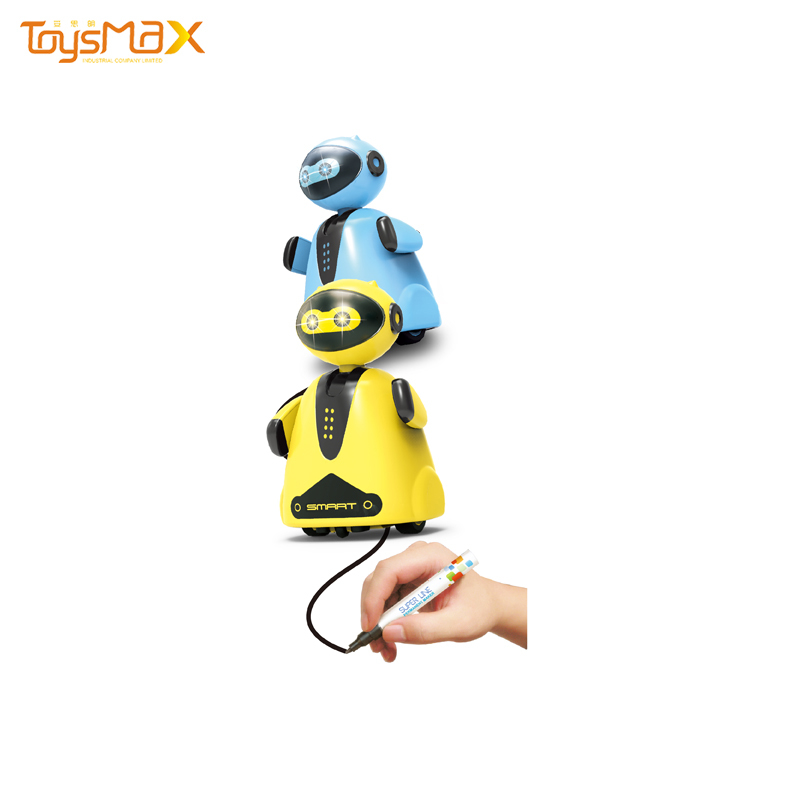 Kids Magic Pen Toy Line Control Follower Toy Inductive Small Plastic Toy Robot Education