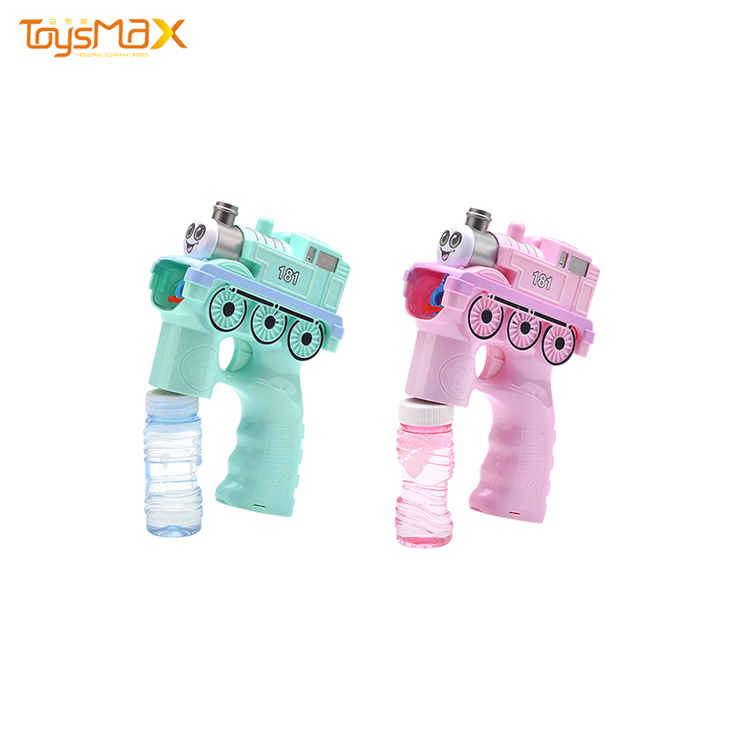 Wholesale summer funny toys automatic music light bubble toy train