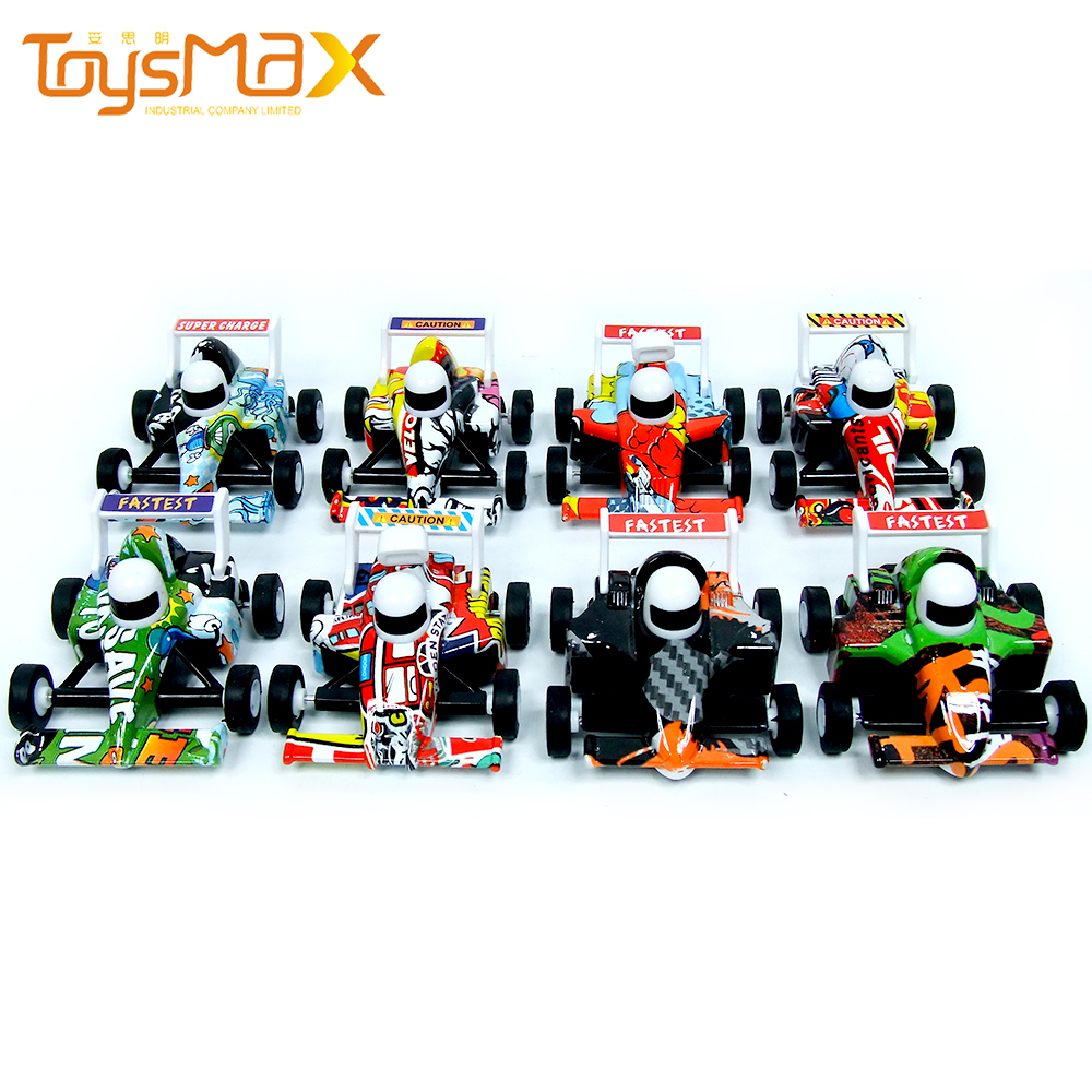 2021 New Items Pull Back Alloy Go Karts Toys Colorful Diecast Cars Set For Kids