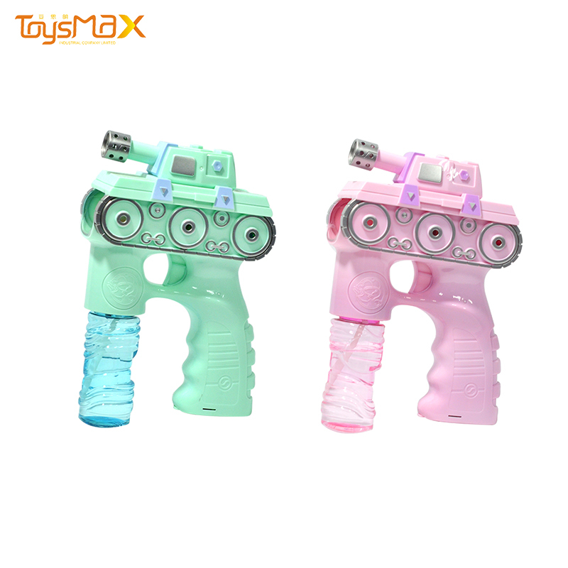 Electric Bubble Machine Tank Soap Bubble Gun Toys With Light And Music