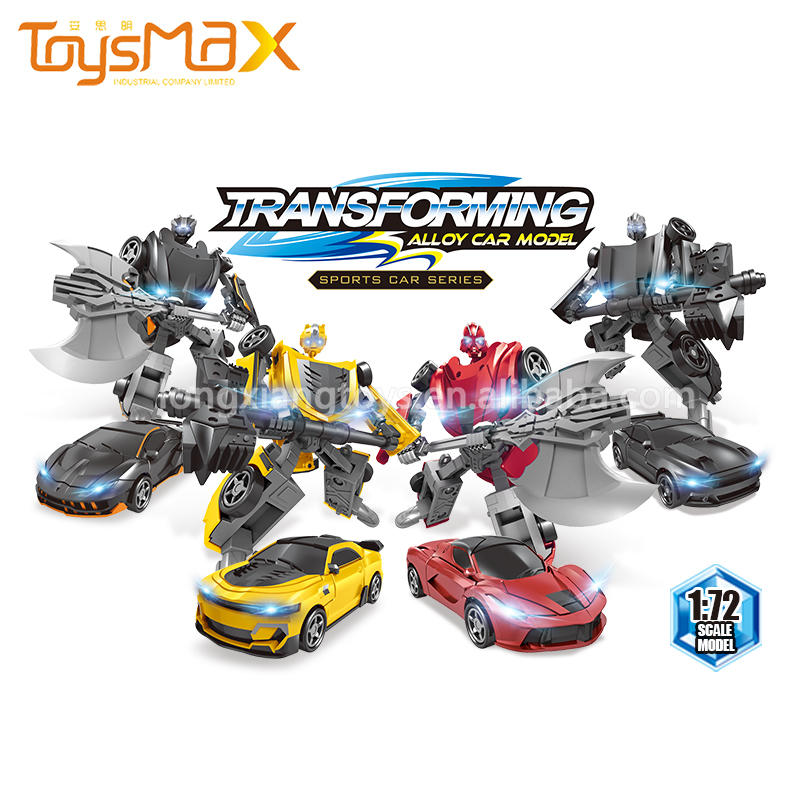 Hot Selling China 1:72 scale transforming toy car diecast cars