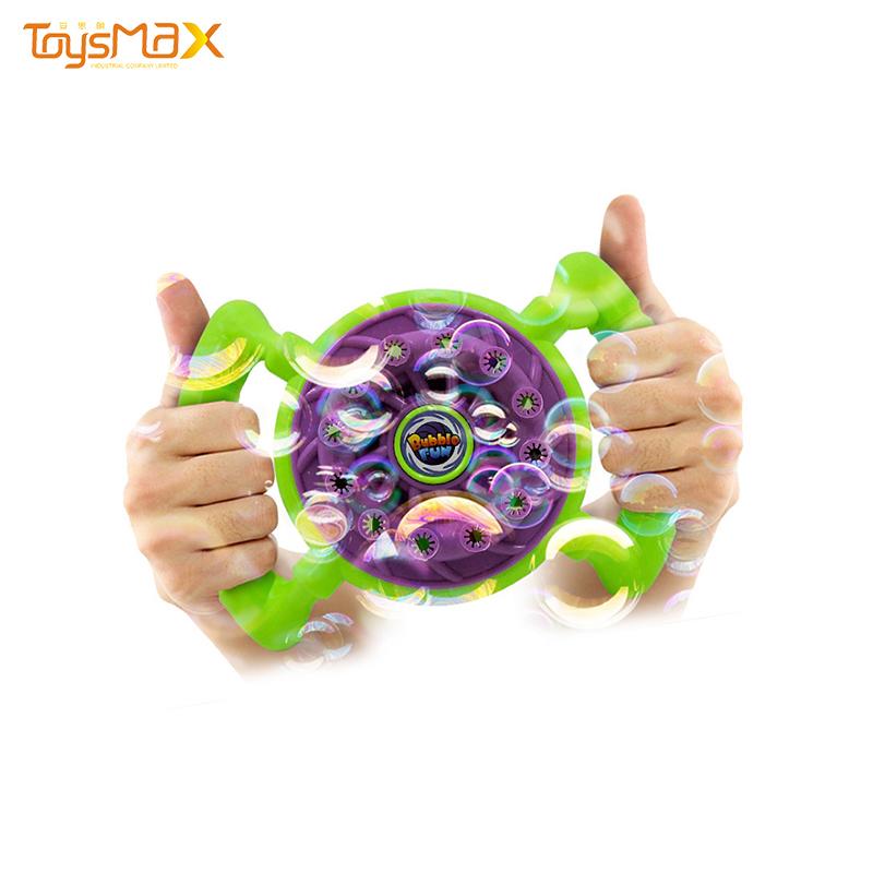 Wholesale  Electric Steering Wheel Bubble Machine For Kids Soap Bubble Toy