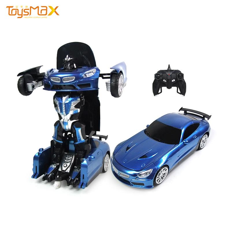 Hot sale 2 in 1 RC toys  deformation robot car for kids