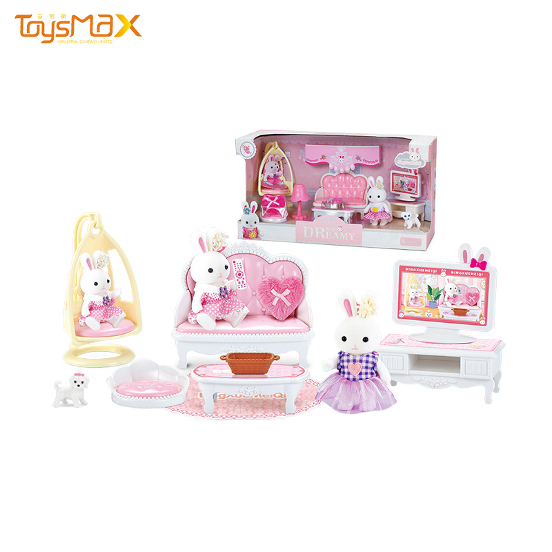 Luxury girl drawing room pretend play Toy doll furniture