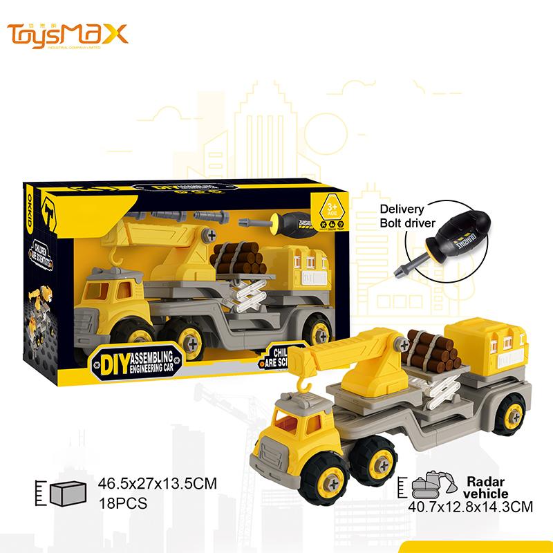 2019 New Build Block Bricks Diy Toys Assemble Truck Car Blocks 3 in 1 Diy  Truck Tool Car