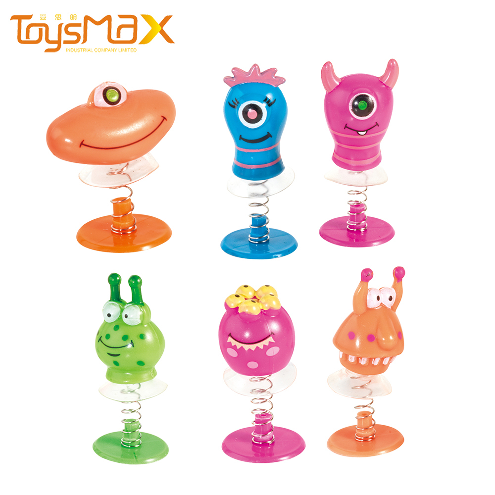 New arrival kids educational toys small plastic Capsule pop up toys Monster jumping toys