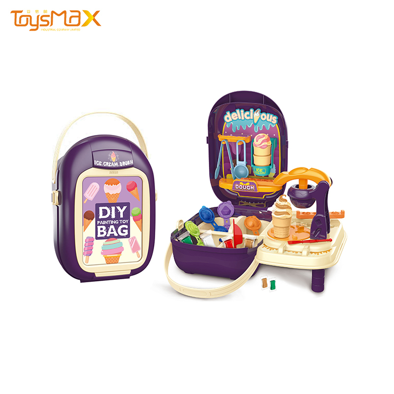 Latest design funny suitcase ice cream machine DIY color clay playdough
