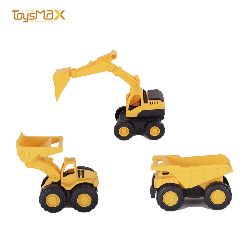 BUCHU CAR plastic mid size excavator bulldozer dump truck city work vehicle toys for kids